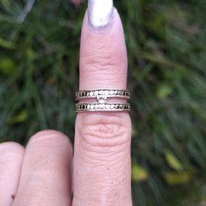 ❇️Anna Beck❇️ Double Bar Ring Size 5 - Used